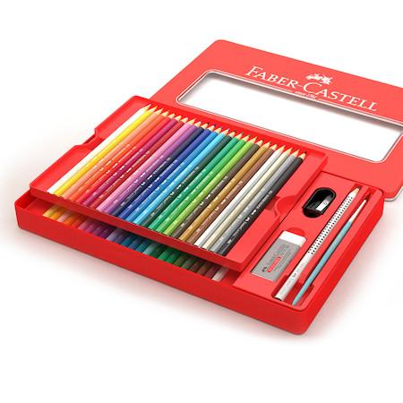 Купить Graf von Faber-Castell 112448 Набор GRIP 2001 48цв карандашей+1чернографитовый +1точилка+1кисточка